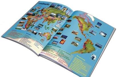 обучающая книга - глобус