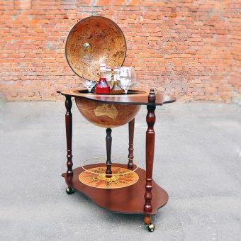 Глобус-бар MICHELANGELO напольный со столиком, d=40 см