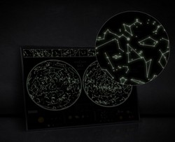 Карта звездного неба светящаяся Star map of the sky